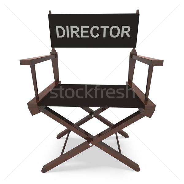 Director's Chair Shows Movie Producer Or Filmmaker Stock photo © stuartmiles