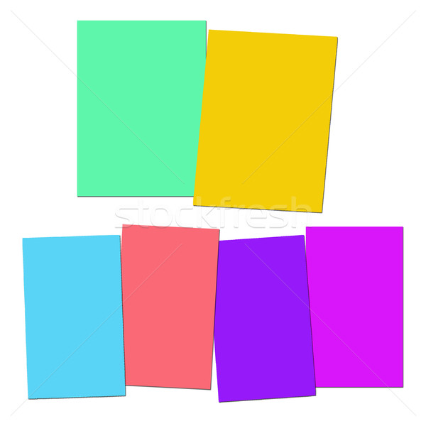 Two And Four Blank Paper Slips Show Copyspace For 2 Or 4 Letter  Stock photo © stuartmiles