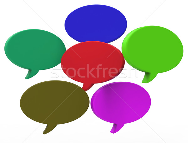 Blank Speech Balloon Shows Copyspace For Thought Chat Or Idea Stock photo © stuartmiles