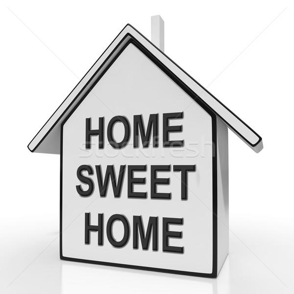 Home sweet home casa cómodo significado familia Foto stock © stuartmiles