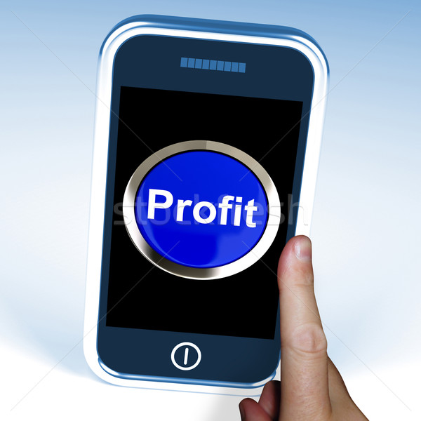Profit On Phone Shows Profitable Incomes And Earnings Stock photo © stuartmiles
