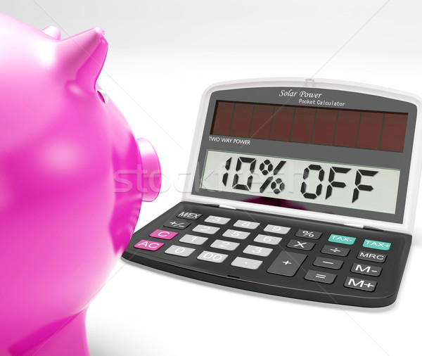 Ten Percent Off Calculator Shows 10 Discount Stock photo © stuartmiles