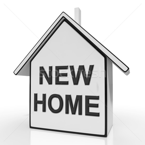 New Home House Means Buying Or Purchasing Property Stock photo © stuartmiles