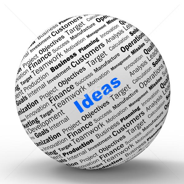 ötletek gömb meghatározás kreativitás innováció Stock fotó © stuartmiles