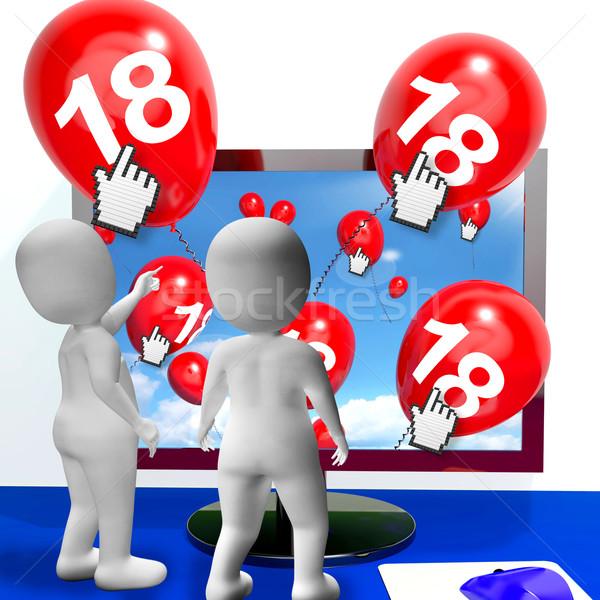 числа 18 шаров контроля шоу интернет Сток-фото © stuartmiles