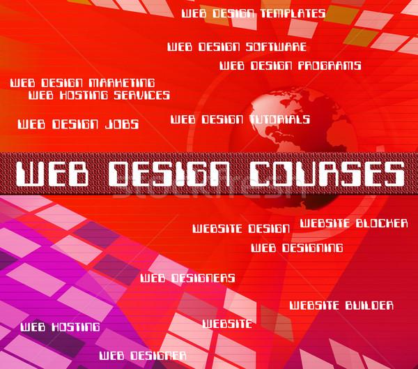 Web Design Courses Shows Www Program And Designs Stock photo © stuartmiles