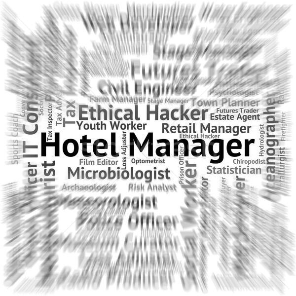 Hotel Manager Represents Place To Stay And Career Stock photo © stuartmiles