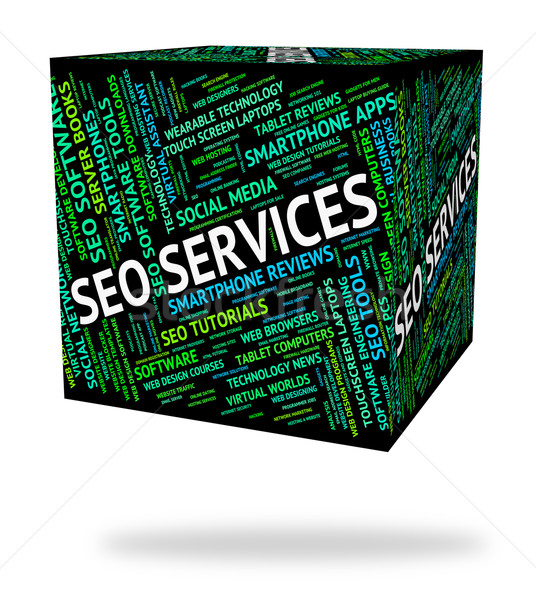 Seo Services Indicates Help Desk And Assistance Stock photo © stuartmiles