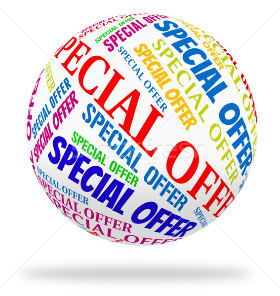 Special Offer Shows Words Sales And Notable Stock photo © stuartmiles