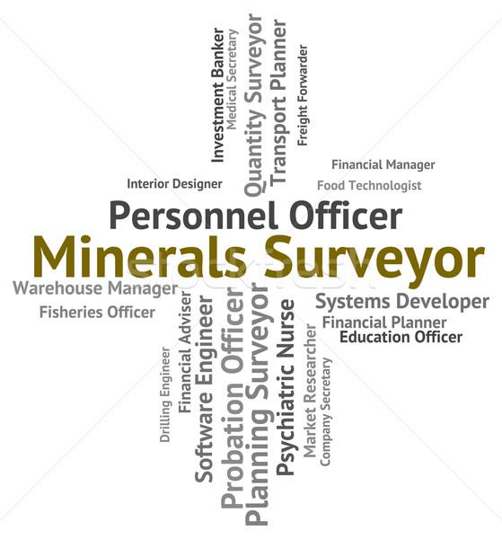 Minerais empregado significado texto trabalhar Foto stock © stuartmiles