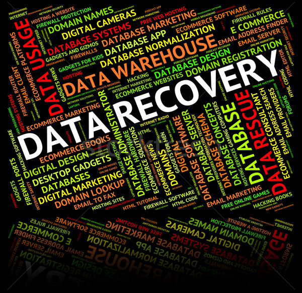 Data Recovery Shows Getting Back And Bytes Stock photo © stuartmiles