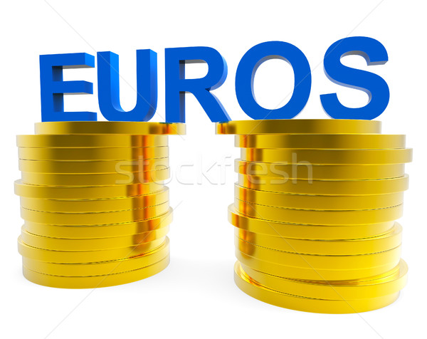 Euro Savings Shows Monetary Currency And Finances Stock photo © stuartmiles