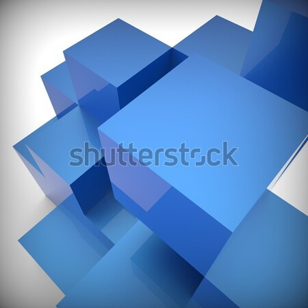 Blocks Design Shows Building Activity And Abstract Stock photo © stuartmiles