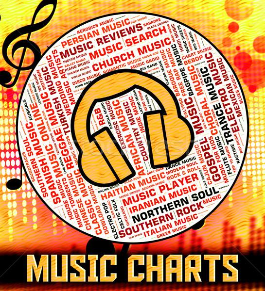 Chart Music Represents Top Twenty And Audio Stock photo © stuartmiles