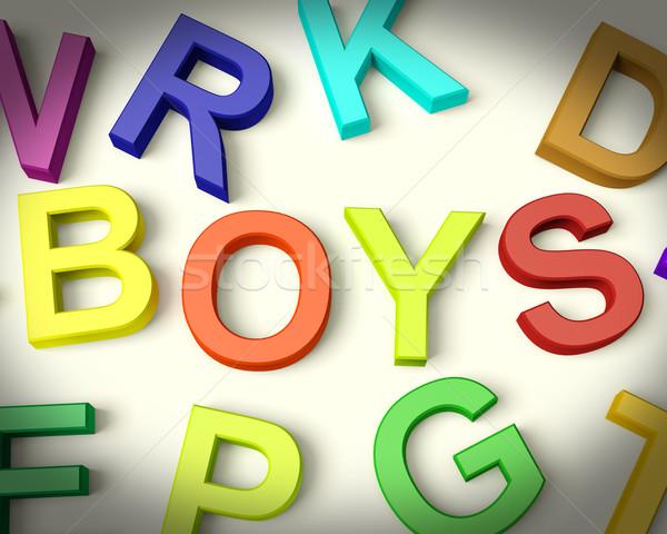 Stok fotoğraf: Erkek · yazılı · plastik · çocuklar · harfler