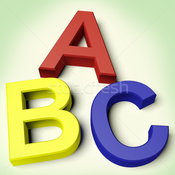 Kids Letters Spelling Abc As Symbol For Education And Learning Stock photo © stuartmiles