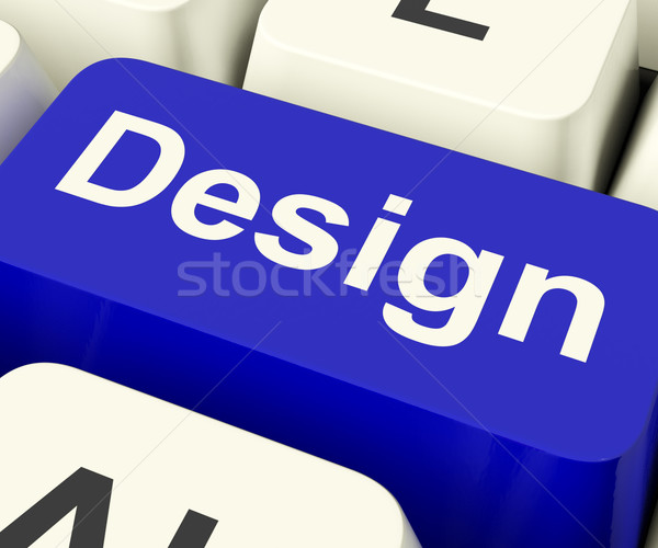 Design Computer Key Meaning Creative Artwork Online Stock photo © stuartmiles