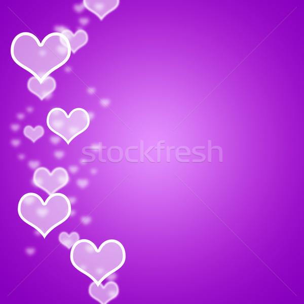 Leylak rengi kalpler bokeh bo sevmek Stok fotoğraf © stuartmiles