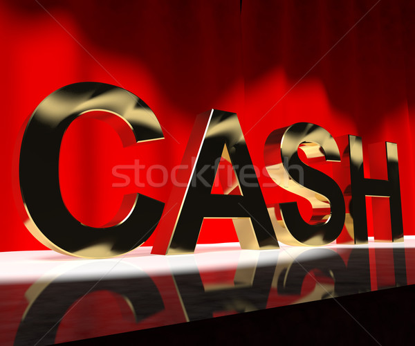 Cash On Stage As Symbol For Currency And Finance Or Acting Caree Stock photo © stuartmiles