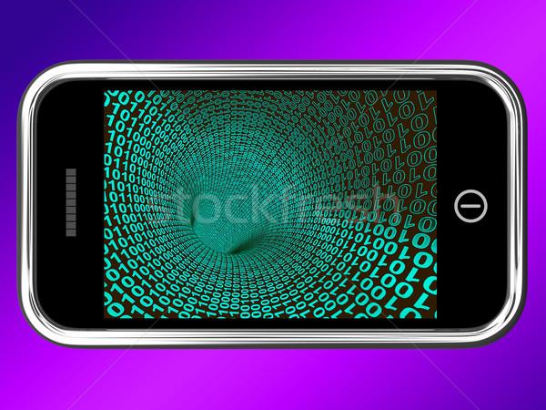 Bináris kód mobil mutat technológia programozás Stock fotó © stuartmiles