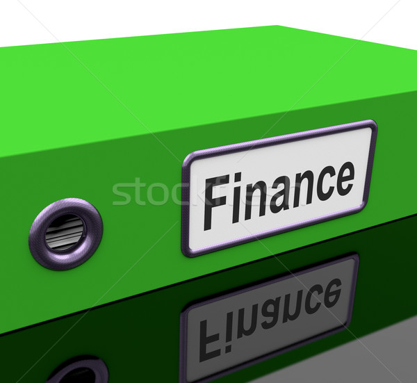 Finance File Holds Earnings And Investment Documents Stock photo © stuartmiles