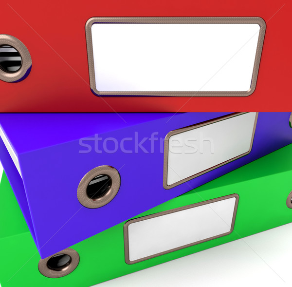 Boglya három akták szervezett iroda papír Stock fotó © stuartmiles