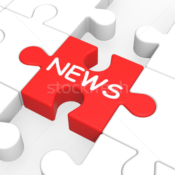 Hírek puzzle mutat újság Stock fotó © stuartmiles