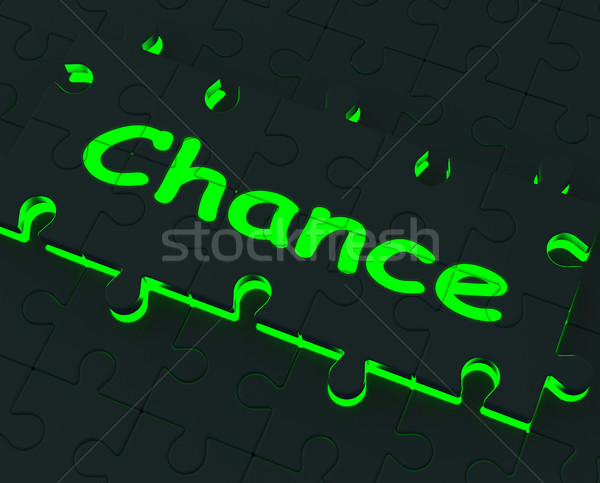 Chance Puzzle Shows Business Opportunities Stock photo © stuartmiles