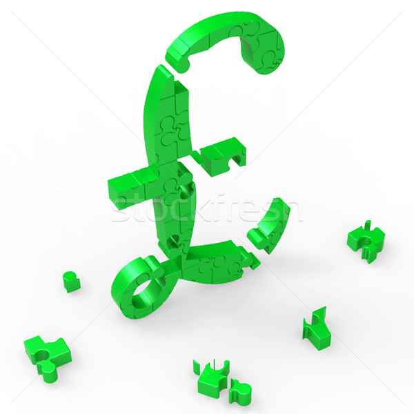 Pound Symbol Shows UK Profit And Prosperity Stock photo © stuartmiles