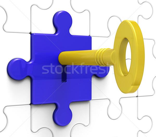 Сток-фото: ключевые · блокировка · безопасности · безопасности · безопасной · замочную · скважину