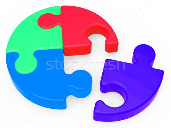 Befejezetlen puzzle hiányzó darab teljes csapatmunka Stock fotó © stuartmiles