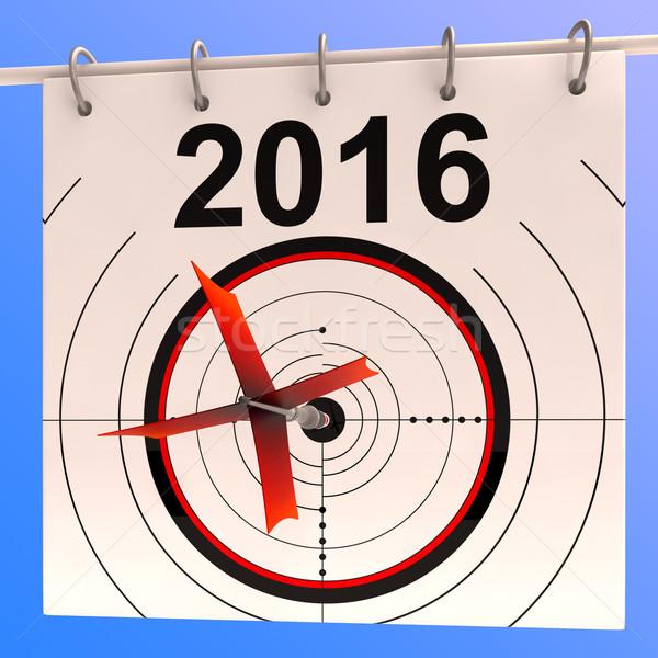 2016 calendário alvo planejamento agenda Foto stock © stuartmiles