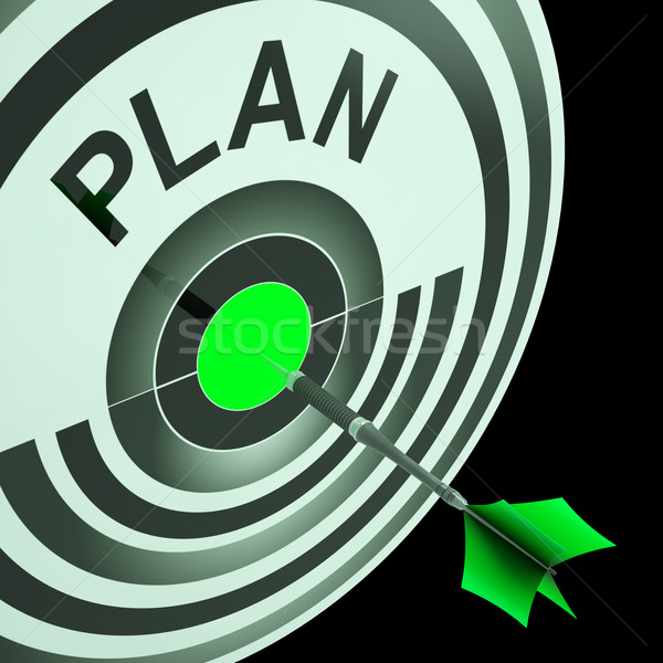 Plan Target Means Planning, Missions And Objectives Stock photo © stuartmiles