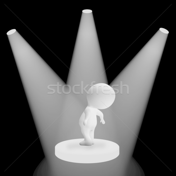 White Spotlights On Character Highlighting Fame And Performance Stock photo © stuartmiles