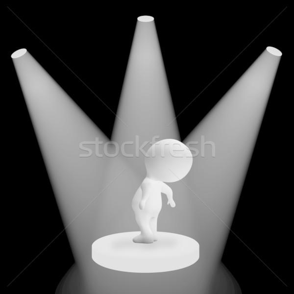 белый характер слава исполнении свет театра Сток-фото © stuartmiles
