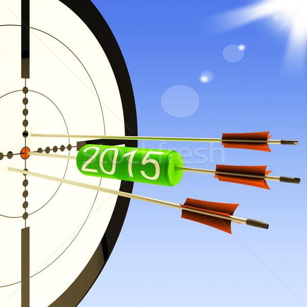 2015 hedef iş plan tahmin Stok fotoğraf © stuartmiles