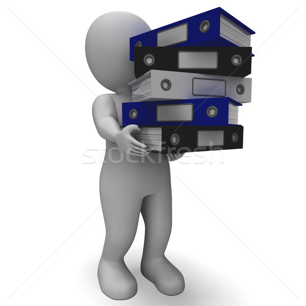 Organizing Clerk Carrying Organized Records Stock photo © stuartmiles