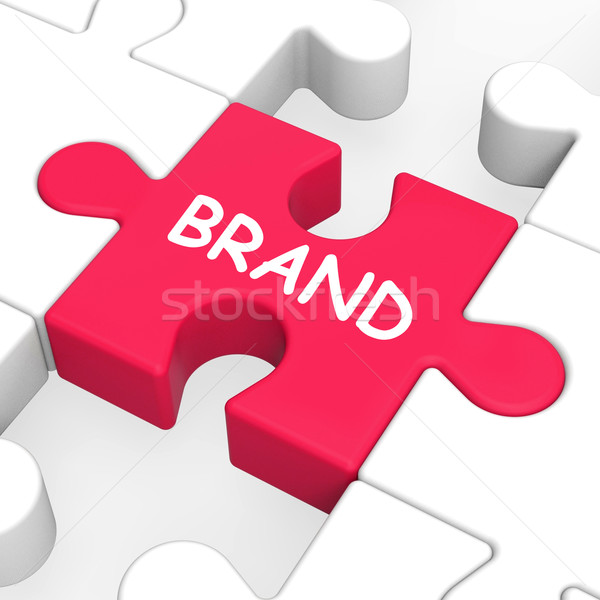 Brand Jigsaw Shows Branding Trademark Or Product Label Stock photo © stuartmiles
