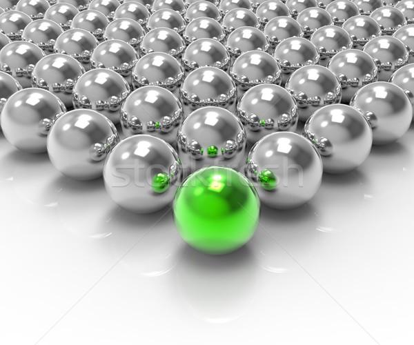 Leading Metallic Ball Showing Leadership Or Winning Stock photo © stuartmiles