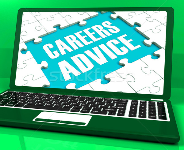 Careers Advice Laptop Shows Employment Guidance And Assistance Stock photo © stuartmiles