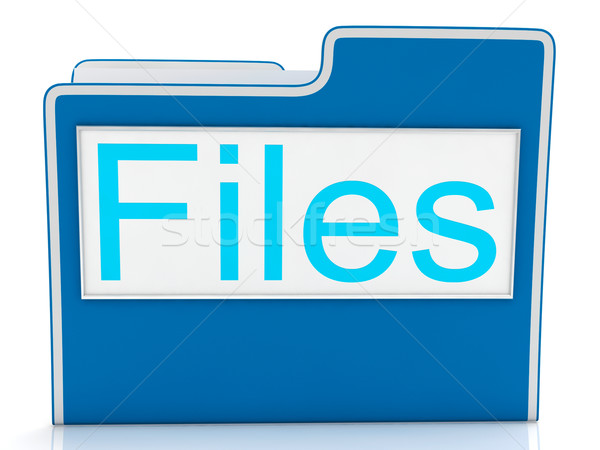 Files Word Showing Organizing And Data Stock photo © stuartmiles