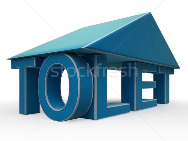 Zeichen Gebäude Büro Leasing Stock foto © stuartmiles