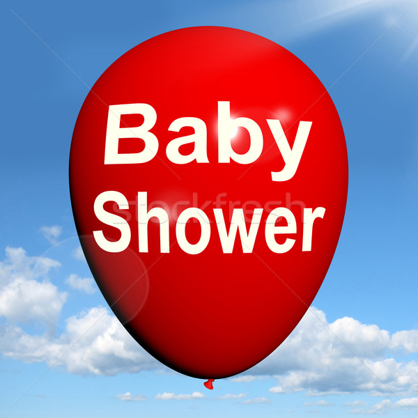 Baby Shower Balloon Shows Cheerful Festivities and Parties Stock photo © stuartmiles