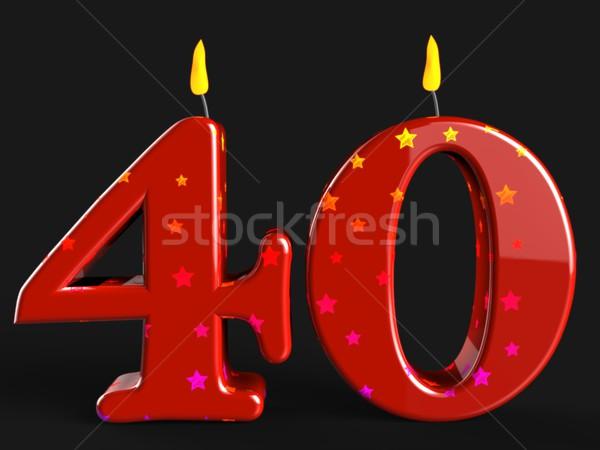 Numero quaranta candele show party decorazioni Foto d'archivio © stuartmiles