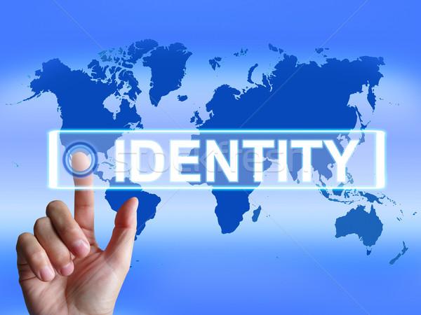 Arculat térkép világszerte nemzetközi azonosítás márka Stock fotó © stuartmiles