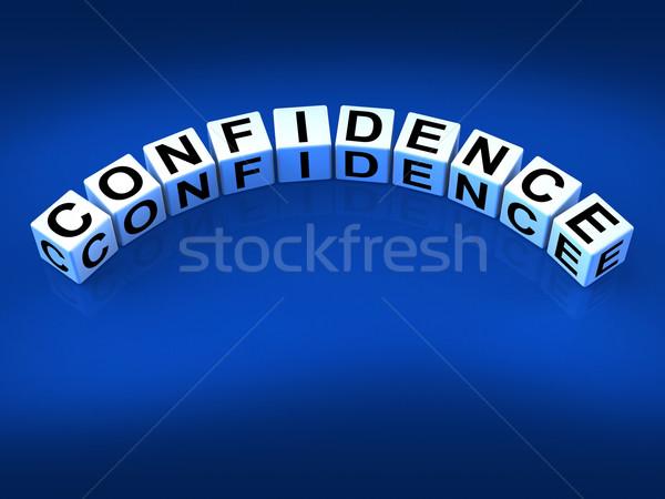 Fiducia dadi te stesso certezza significato Foto d'archivio © stuartmiles