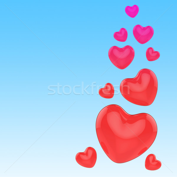 Hearts On Sky Meaning Romance And Love Stock photo © stuartmiles