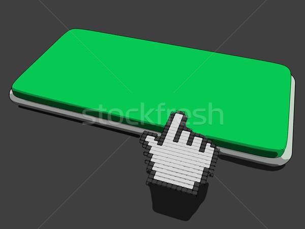 Curseur main clé espace de copie cliquez ici Photo stock © stuartmiles