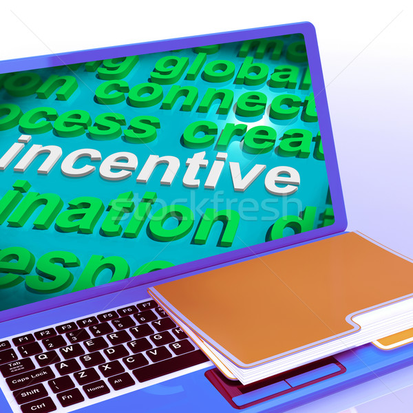 Incentivo word cloud laptop bonus premiare Foto d'archivio © stuartmiles