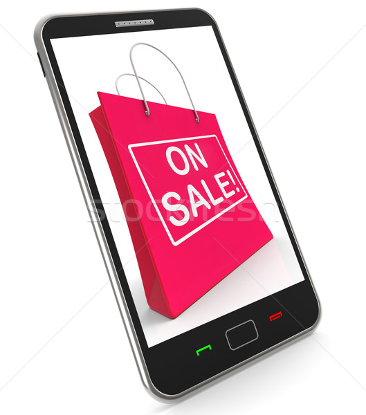 On Sale Shopping Bags Shows Bargains Savings Stock photo © stuartmiles